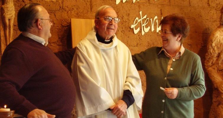 P. Jaime Bonet és az első missziós házaspár Pepe és Margarita